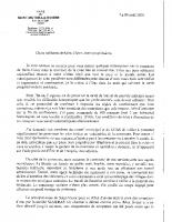courrier de M LE MAIRE 09 04 2020
