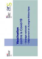 Diaporama de presentation de la strategie vaccinale contre la covid19
